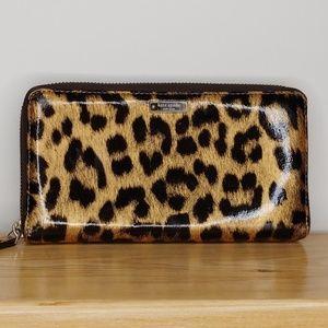 kate spade Cheetah Print Zipper Wallet